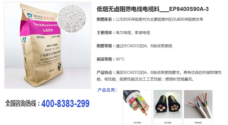 低烟无卤阻燃电线电缆料-聚石化学