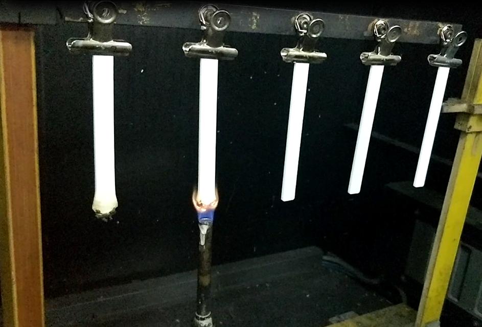 阻燃材料防火测试